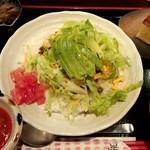 うーみや - タコライス定食(850円)にアボカド(100円)トッピング