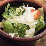 19570459 - ドリアに付いてるサラダ。
