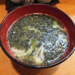 四季料理 海山 - 岩海苔のみそ汁