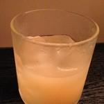 お酒と料理の心 - あらごし桃は一気するもの