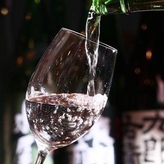 信州が誇る約100種の地産酒を堪能