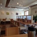 洋風創作うどん KEKKOI - 店内は居心地のいいカフェ