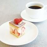 チャヤマクロビ - ケーキセット(950円)