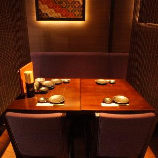 銀座コリドーでは珍しい雰囲気抜群の個室・半個室を完備!