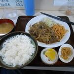 食堂 伊賀 - 牛肉ショウガ焼定食