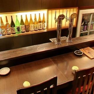 おちょこはお好みのものを選んでお酒を楽しむことができます。