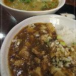 翠鳳 - 麻婆豆腐と担々麺のセット