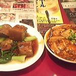 19590806 - 1980円コースの麻婆豆腐と豚の角煮です。