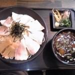 蓮 - 魚だしざる中華:680円+大盛:100円+チャーシュー増し:150円=930円(税込)【2013年6月撮影】