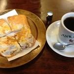たかしまコーヒー店 - モーニングのたまごトーストセット@480円