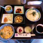 天将 - 料理写真:日替わりランチ(ざるソーメン)