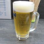 角打ち 三河 - 生ビール