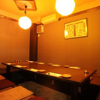 くつろいだ雰囲気の個室は、あらゆるシーンで利用できます