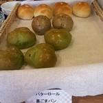 ホテルエリアワン宮崎 - ●バターロール・黒ごまパン・ほうれんそうパン(2013.02)●