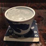 御○屋 - 焼酎はこのようなグラスで。