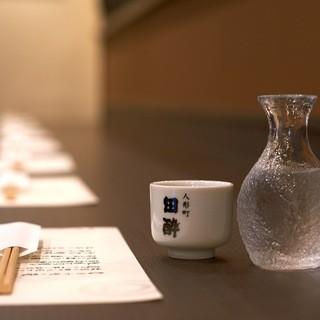 全国の厳選した純米酒が常時40種以上取り揃え 90ml430円~お楽しみいただけます♪