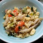 山根 - お食事処 山根 @中板橋 定食に付く野菜たっぷり煎り豆腐
