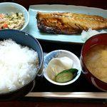 山根 - お食事処 山根 @中板橋 鯖の焼魚定食 650円