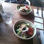 麦浪 - ランチセットのサラダ