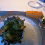 ジョルジュ マルソー - サザエと4種のきのこのグラニテ。