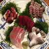 味家 - 料理写真:刺盛・5点盛(3,150円)本マグロ・平政・こはだ・たこ・しゃこ2013年6月