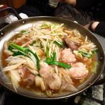 きしや - きしや特製もつ鍋780円