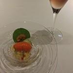 19617395 - 毛ガニとトマトのジュレ。トマトの風味が○