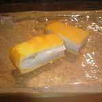 かわじ - 白身と黄身が完全せぱれーと。名物卵焼き