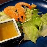 彩あい亭 - 皿引:車海老サラダ