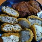 長沼精肉店 - カレーチキン揚げ、和牛コロッケ、メンチカツ