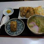 恵味うどん - 鶏唐揚げ定食