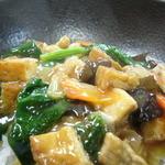 廣東 - 自家製厚揚げと五目野菜 お豆もはいってます