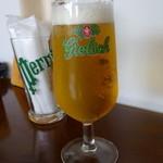 ザ バルーンマーケット - ランチビールです