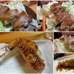燻鳥 - 料理写真:お任せ的にオーダー   もも・せせり・豚バラ・手羽・パリ皮   燻香が フワッと軽めに香ってき、お酒をお手伝い。ワインや日本酒なんかと相性が良さそうです