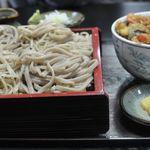 栄月庵 - あいもり 田舎蕎麦と天丼ミニ(ランチ限定