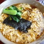 巴屋 - 料理写真:卵とじ蕎麦(温)