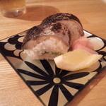 お食事 だいせい - 鯖の炙り寿司2貫 350円