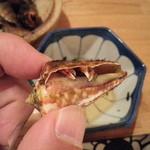 お食事 だいせい - チャンバラ貝・・最後の一個は・・ヤドカリでした^^