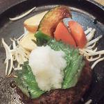 19633209 - 「黒毛和牛おろしポン酢ハンバーグ定食」(1155円)