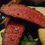 ボータン - イチボ肉のアップ