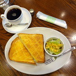 カフェ珈人 - トースト&サラダモーニング650円