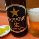 百番 - 瓶ビール(中):350円