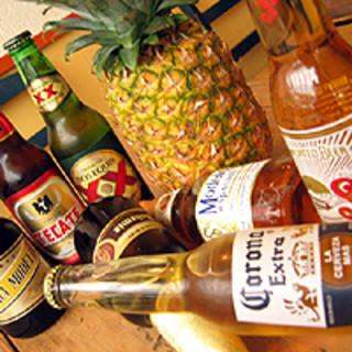 豊富なメキシコビール、テキーラ&メスカル!!