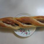 石釜パン工房 ル・ピエール - しそフランス170円、フランスパンの中に紫蘇とベーコンを挟んだ美味しいパンです。