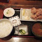 ねりちゃぎ - 【ランチ】 唐揚げ定食 \680