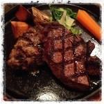 GUMBO - 和牛ツイングリル 信州黒毛和牛ヒレステーキ&信州和牛ハンバーグ  とっても贅沢!