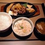 やよい軒 豊洲店 - 和風ハンバーグ定食:690円(税込)【2013年1月撮影】