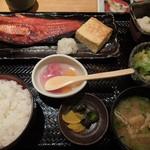 魚と創作料理 だん - 「焼き魚御膳」(当日の焼き魚は、ほっけ)