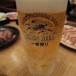 寅亭 - 生ビール♪