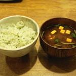 塩梅 - 2013.6 青紫蘇ご飯、赤だし